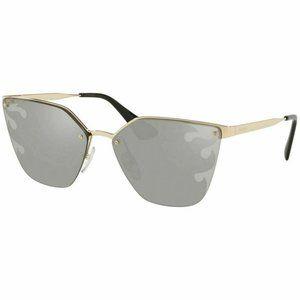 Prada Square Style Sunglasses W/Grey Silver Lens